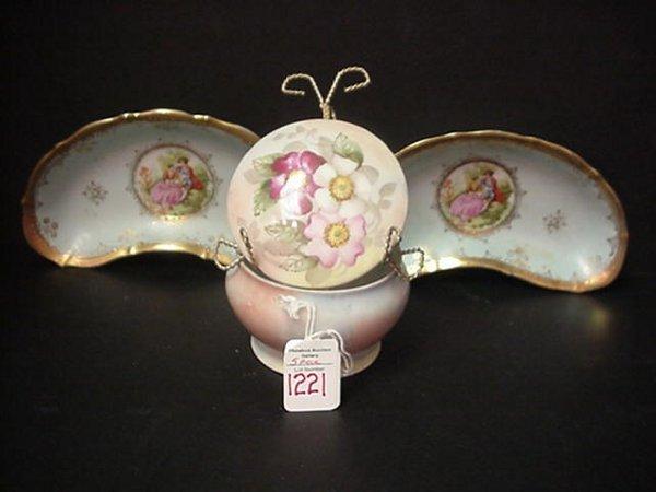 1221: Vintage Decorated Porcelain Pieces: Ger