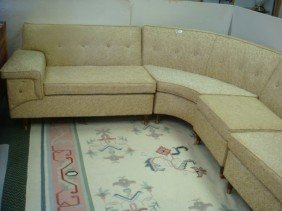 5: Four Piece Wrap Around Sectional Sofa: