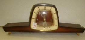 15: HERMLE German Wood Case Mantel Clock:
