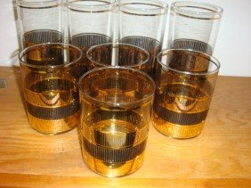 22: Set of 8 CULVER Ice Tea and Highball Glasses: