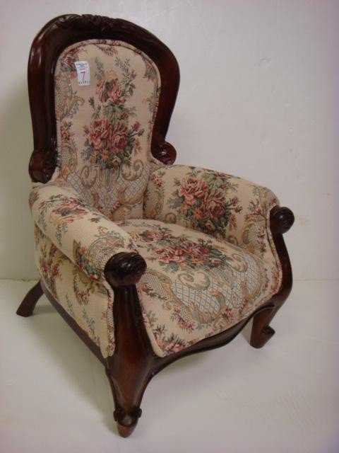 7: Child's Victorian Style Overstuffed Arm Chair: