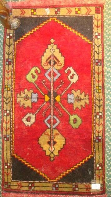 15: Antique All Wool Hand Loomed Persian Rug 3 X 2: