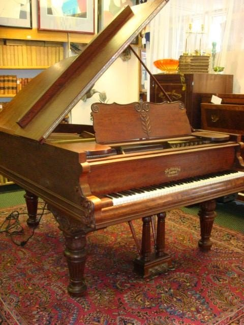 120: MATHUSHEK Baby Grand Piano with QRS Pianomation: