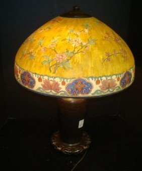 Signed HANDEL Table Lamp With Domical Shade. #6631