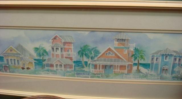 134: Signed DONNA BURGESS Print of Seaside, Florida: