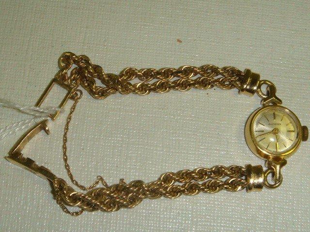 142: 14KT Yellow Gold Ladies BUCHERER Wrist Watch: