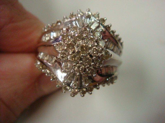 20: 10KT White Gold and Diamond Ladies Dinner Ring: