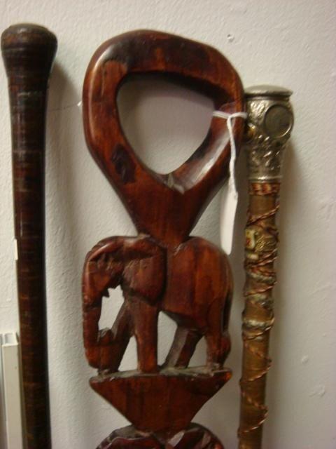 131B: Three Vintage Walking Sticks: