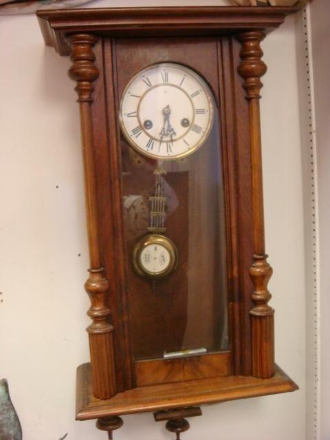 16A: JUNGHANS Regulator Mahogany Case Wall Clock: