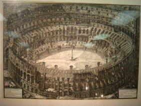 GIOVANNI PIRANESI Via Detto Il Colosseo Engraving
