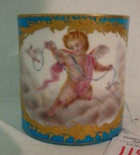 SEVRES Porcelain Handled Portrait Cup: