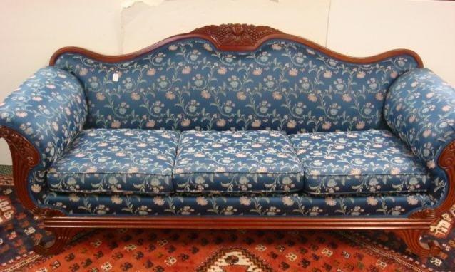 13. 19TH C. Mahogany Framed Cornucopia Sofa: