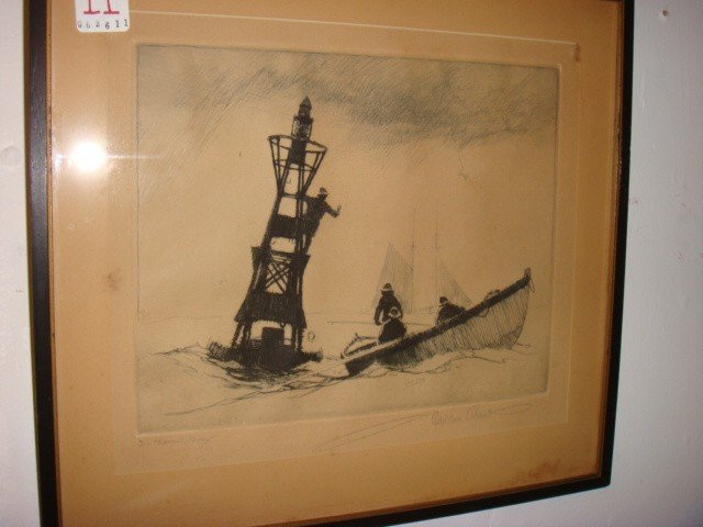 11: Pencil Signed GORDON HOPE GRANT Etching: