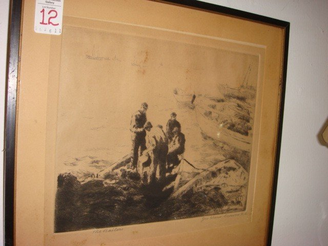 12: Pencil Signed GEO ELMER BROWN Etching: