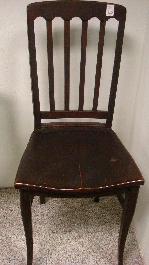 15: Mahogany Slat Back Youth Side Chair: