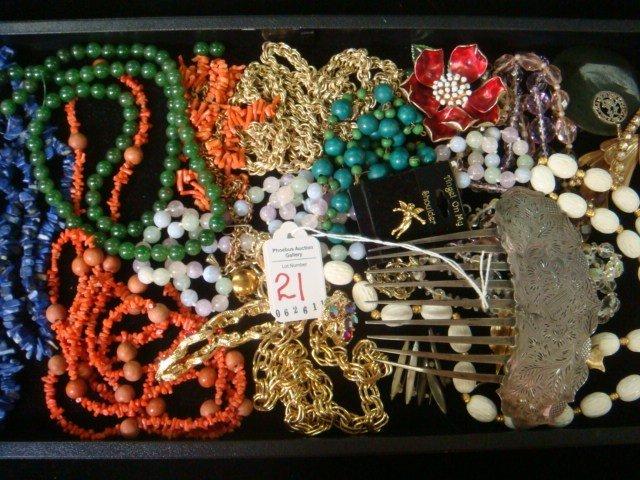 21: Assortment of Costume Jewelry: