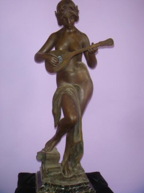 451: Art Nouveau Statue Signed J. Causse 1869-1914: