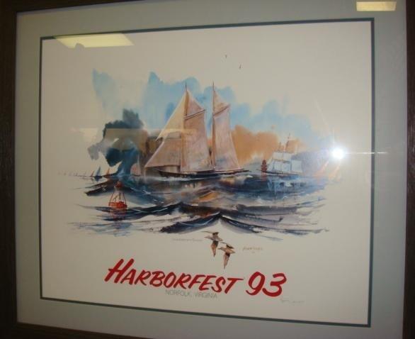 452: HARBORFEST '93 Poster Pencil Signed HERB JONES:
