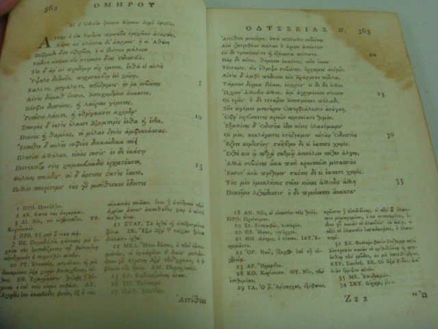 462: 1786 Antique Book, HOMER'S ODYSSEY in Greek: - 4