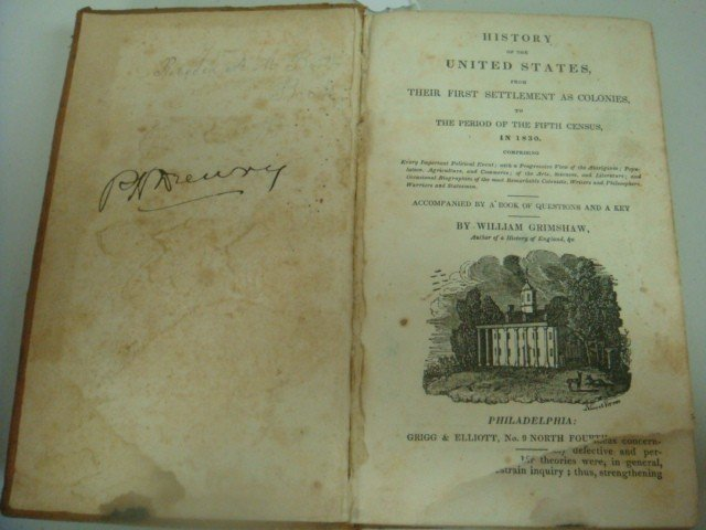 464: 1831 Antique Book, History of United States, Grims