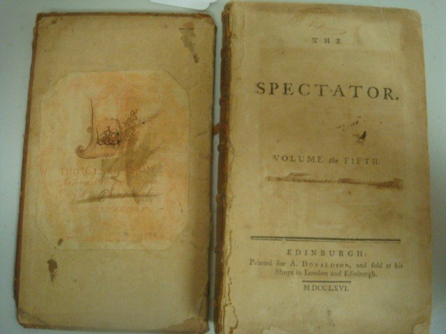 465: 1764 Antique Book, THE SPECTATOR VOL the FIFTH: