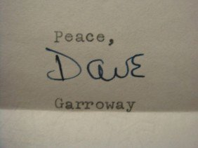 """Personal Letter Signed, DAVE GARROWAY, """"Today"""""""