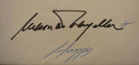 First Day Cover, Signed NELSON & HAPPY ROCKEFELLER