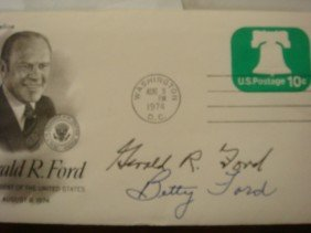 Signed 1st Day Cover, GERALD & BETTY FORD: