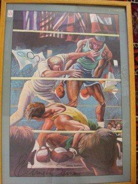 "ERNIE BARNES Olympic Games Poster ""Winning"":"