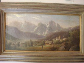 "Oil On Canvas ""Thunder Mountain"":"