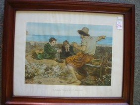 "Sir J. E. MILLAIS ""Boyhood Of Raleigh"" Print:"