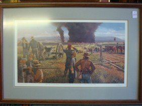 Artist Signed And Numbered Civil War Print:
