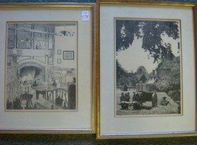 Two MUIR Williamsburg Offset Lithograph Prints:
