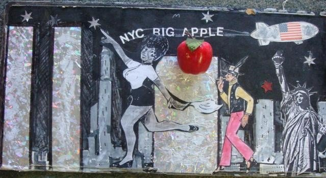 591: EDWARD WELCH Mixed Media New York Collage: