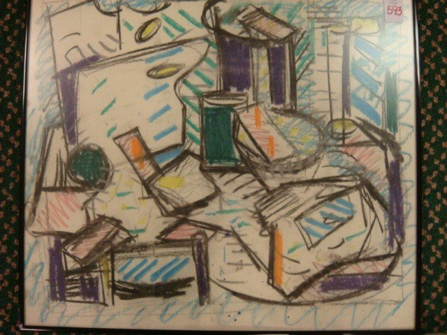 593: Abstract Pastel on Paper: