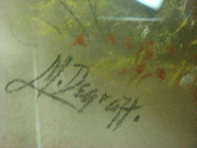 616: Signed M DeGRAFF Pastel Landscape on Paper: - 3