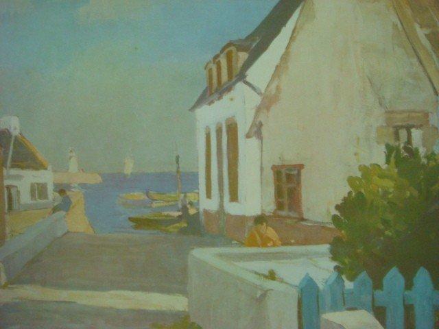 637: RAYMOND WINTZ Sea Side Village Print: - 2