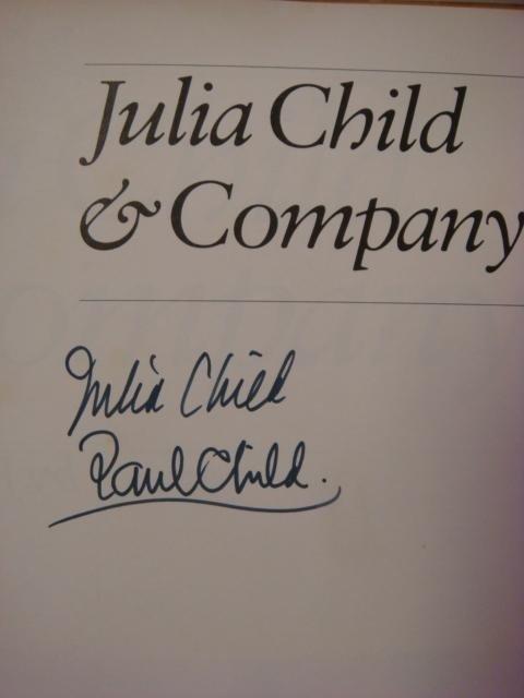 "469A: JULIA CHILD Autographed Book, ""Julia Child & Comp"