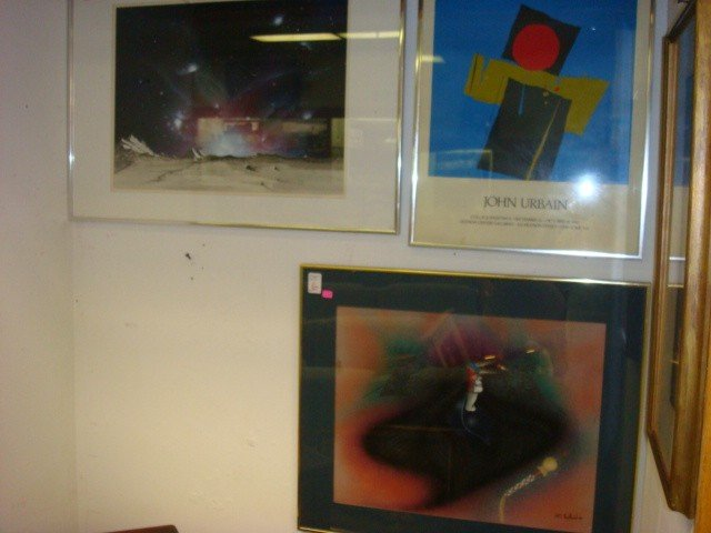 6: JOHN URBAIN Poster, WILL REDBIRD & R HITT Paintings: