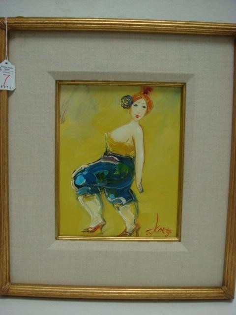 7: Signed SKOETZ Femme Fatales Oil on Canvas: