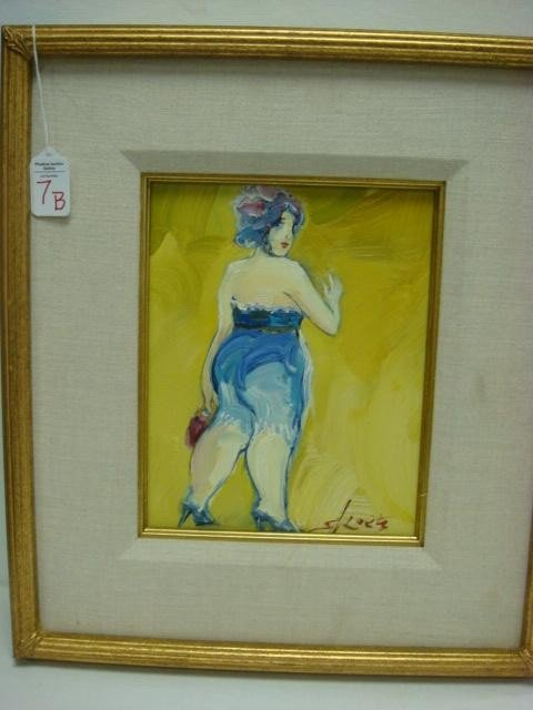 7B: Signed SKOETZ Femme Fatales Oil on Canvas: