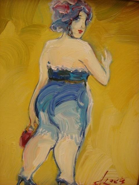 7B: Signed SKOETZ Femme Fatales Oil on Canvas: - 2