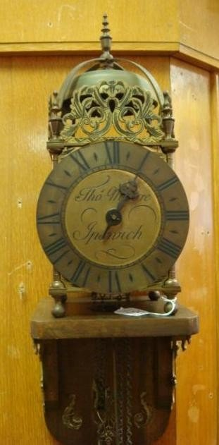 123: THO MOORE Lantern Form Wall Clock: