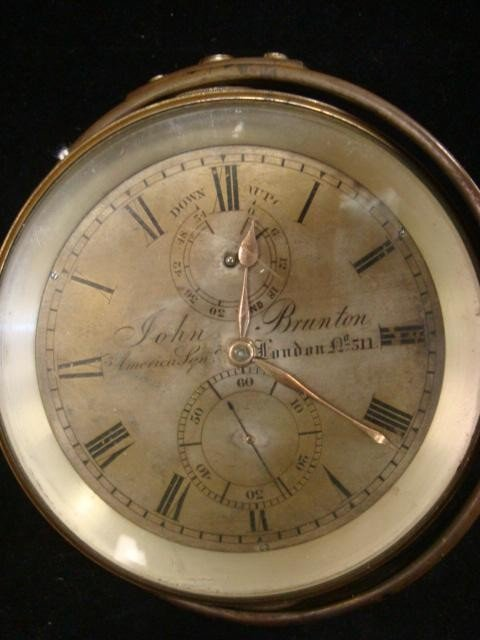 178: Brass Ships Clock in Gimble Mount, JOHN BRUTON: