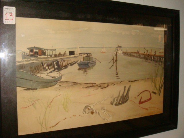 13: Signed BRUCE MITCHELL Watercolor: