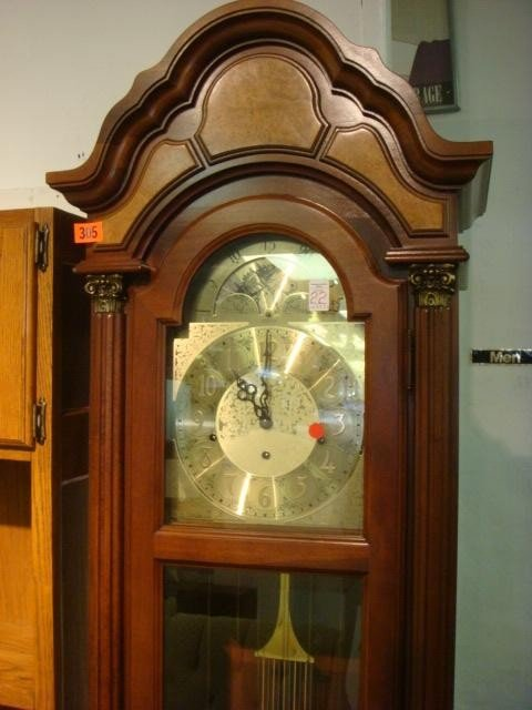 22: PEARL American Made Mahogany Case Grandfather Clock