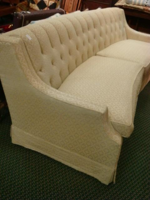 23: CLYDE PEARSON Upholstered Curved Back Modern Sofa: - 2