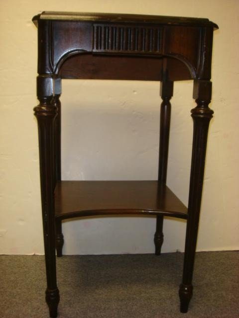 19: Mahogany Two Tiered Side Table: