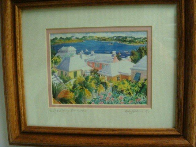 30: Signed AMY HAUS Bermuda Landscape Print: