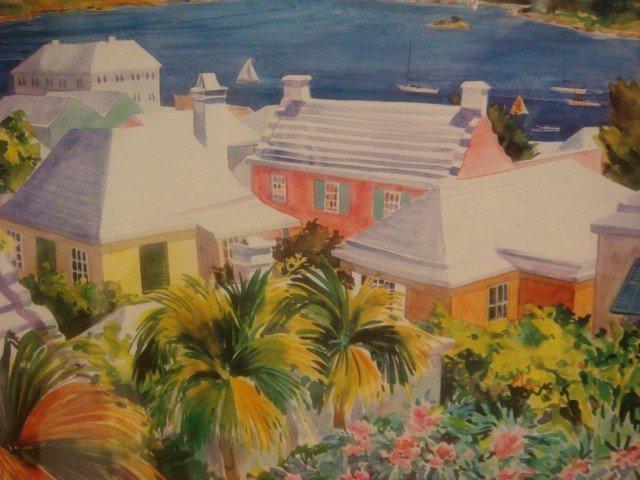30: Signed AMY HAUS Bermuda Landscape Print: - 2